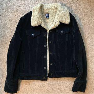 Velvet and Sherling Jacket